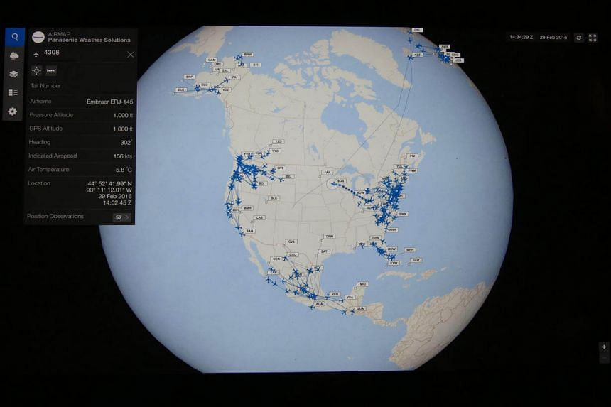 A global snapshot of the FlightLink monitoring system via the AirMap application.