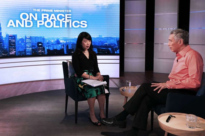 PM Lee at the TV recording for The Prime Minister on Race and Politics programme.