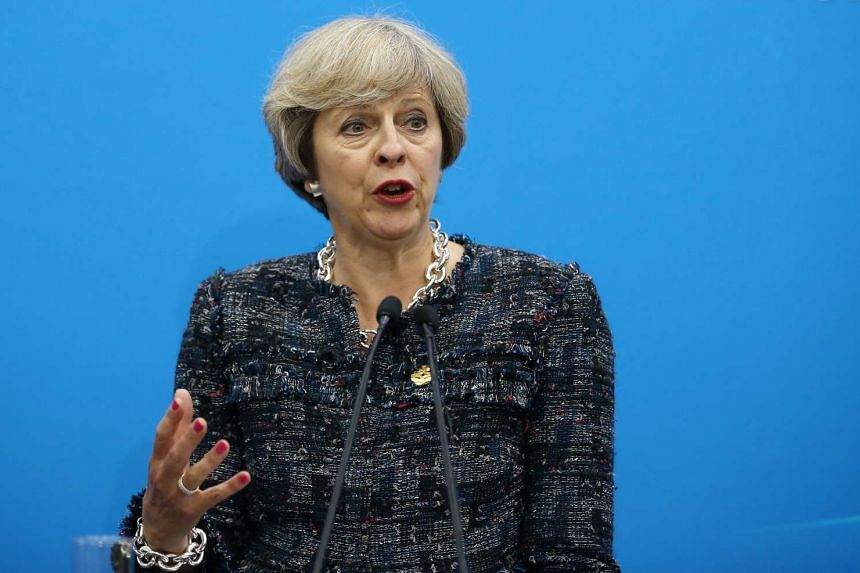British Prime Minister Theresa May speaks at a news conference after the closing of G20 Summit in Hangzhou, China on Sept 5, 2016.