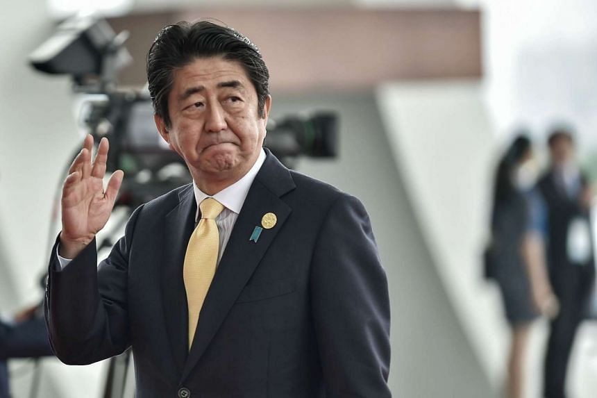Japanese PM Shinzo Abe urged structural reforms to deal with steel overcapacity, at the G-20 Summit in Hangzhou, on Sept 5, 2016.
