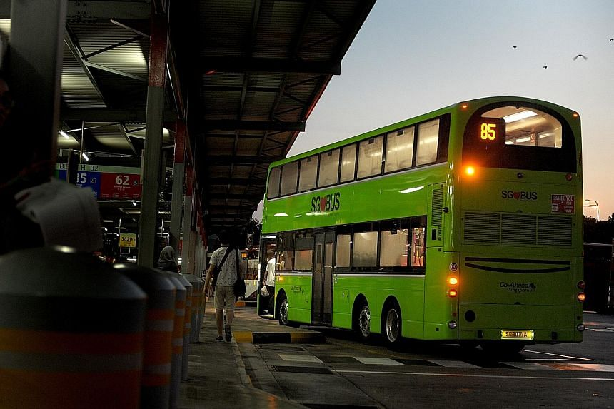 Go-Ahead Singapore, the island's fourth bus operator, launched its first services at the Punggol temporary bus exchange yesterday. It took over routes run previously by SBS Transit.