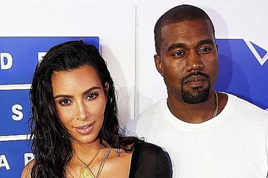 Kanye West and Kim Kardashian (both above).