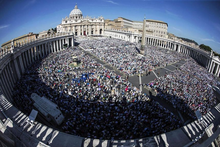 Around 120,000 people attended Mother Teresa's canonisation ceremony in St Peter's Square, Vatican City. Among those present were 13 heads of state or government, and hundreds of sari-clad nuns from her religious order, the Missionaries of Charity.