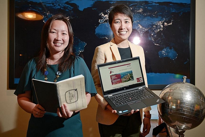 Quotient Travel Planner co-founders Javiny Lim (far left) and Lim Hui Juan developed a website that allows users to pick from a list of basic itineraries and add on activities, day tours and trip extensions. After making their payment, a booklet with