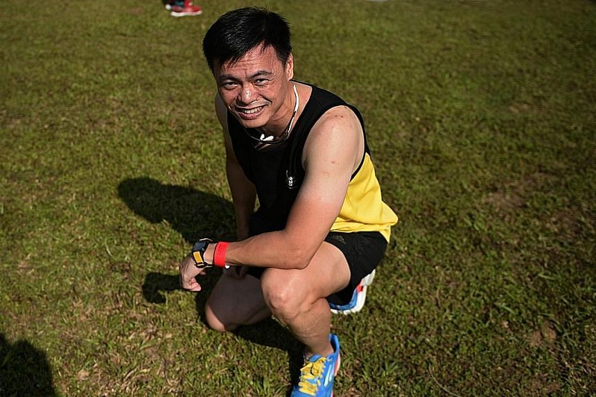 Superintendent of Prisons Jimmy Lee, who was the organising chairman of the inaugural Yellow Ribbon Prison Run in 2009, pictured here with the 2009 Run singlet yesterday, at the eight edition of the run.