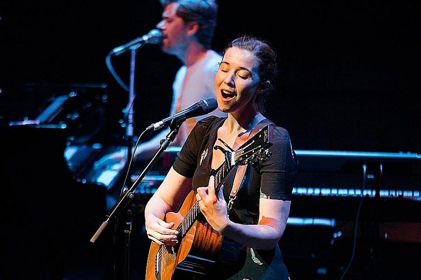 Singer- songwriters Lisa Hannigan (above) and Patrick Wolf at the double-bill.