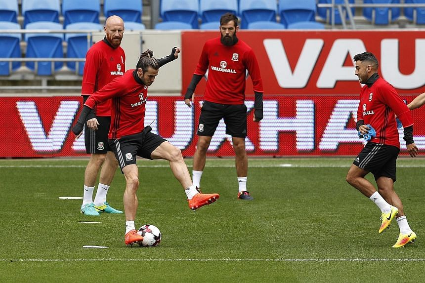 Welsh winger Gareth Bale displaying some of his exceptional footwork during training ahead of their Moldova clash.