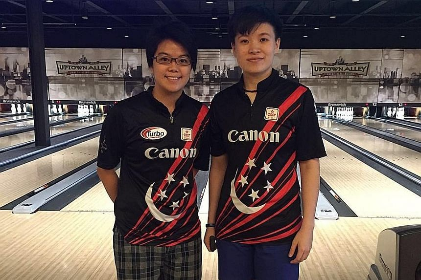 Cherie Tan (left) and New Hui Fen defied the seedings to make the PWBA Tour Championship semi-finals.