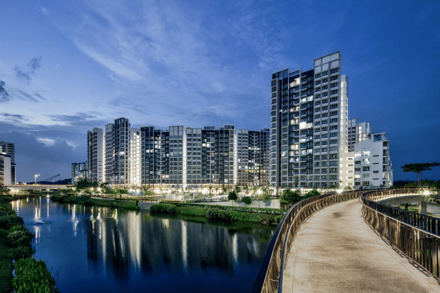 The design of Waterway Ridges is inspired by the Chinese shan-shui paintings, where nature and the built form are intertwined to create beautiful homes by the water.