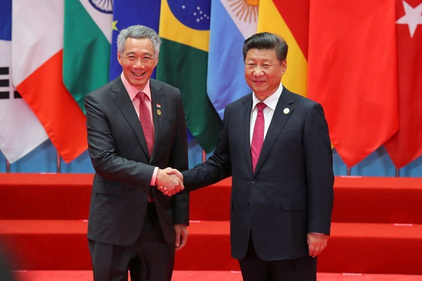 Prime Minister Lee Hsien Loong meets Chinese President Xi Jinping at the G20 Summit in Hangzhou, China, on Sept 4, 2016