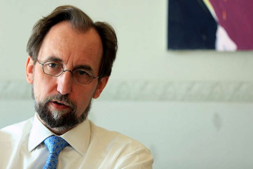 United Nations High Commissioner for Human Rights Zeid Ra'ad Al Hussein gestures during an interview on Aug 10, 2016.