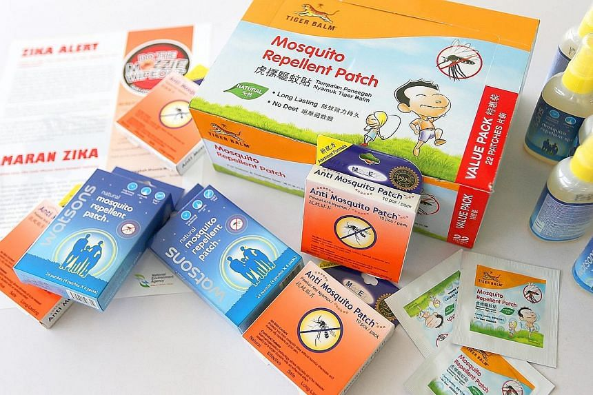 Patches and wristbands are scented with citronella, peppermint or similar oils, which are not as effective as repellents with Deet and picaridin.