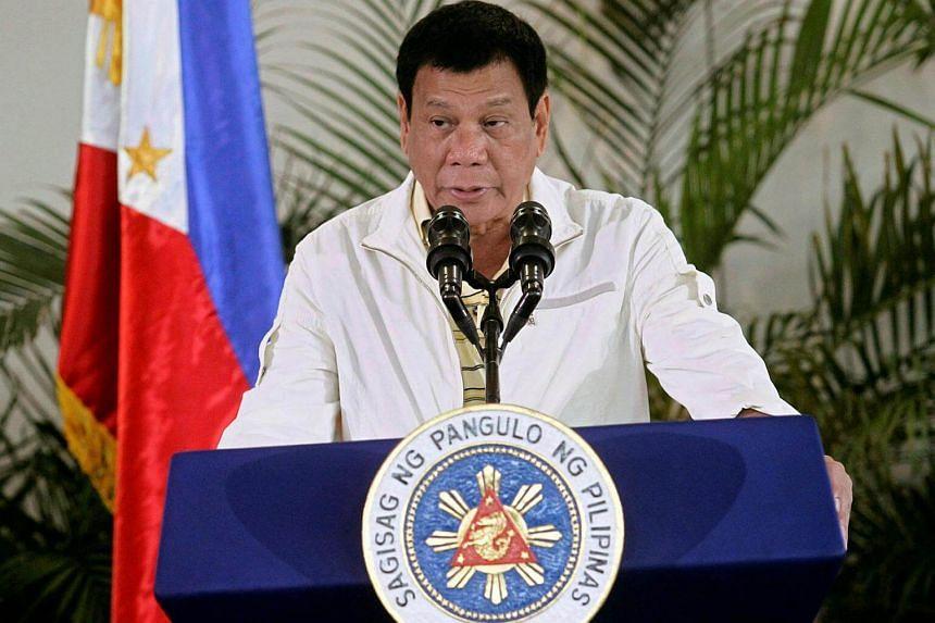 Philippine President Rodrigo Duterte delivers his pre-departure message before leaving for the 28th Asean Summit in Laos.