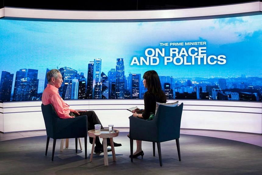 PM Lee Hsien Loong on the programme The Prime Minister on Race and Politics.