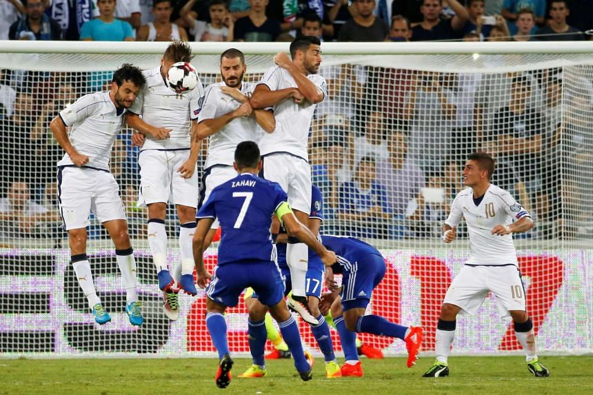 Italy beat Israel 3-1 at the World Cup qualifier in Haifa.