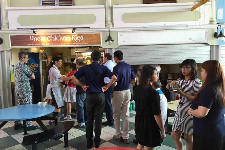 Uncle Chicken Rice sold out at 1.30pm, less than two hours after it opened.