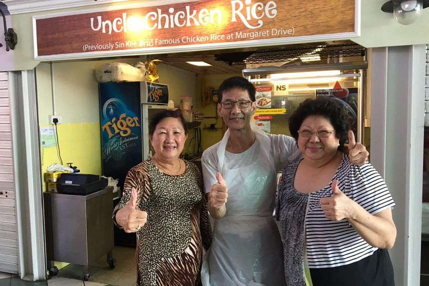 Uncle Chicken Rice opened at 11.45am but these customers had been waiting since 11am.