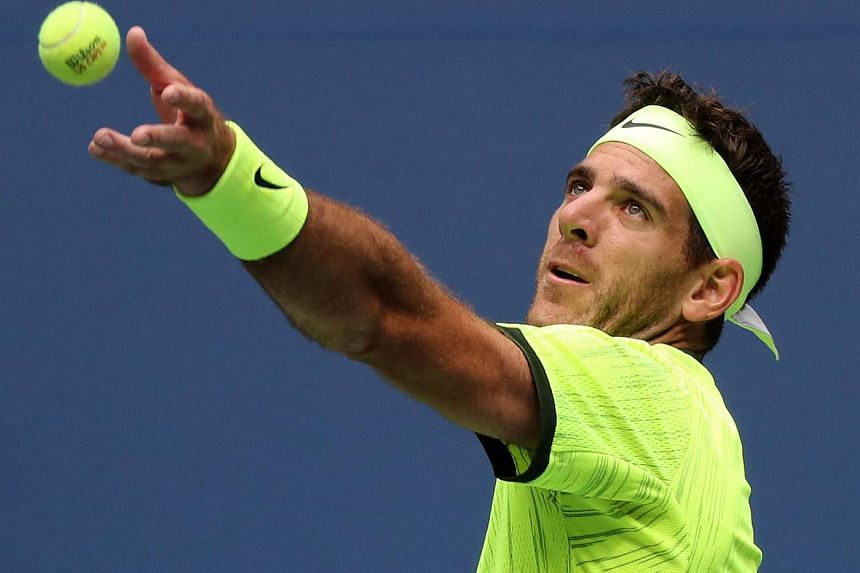 Former champion Juan Martin del Potro became the lowest ranked player in 25 years to reach the US Open quarter-finals.