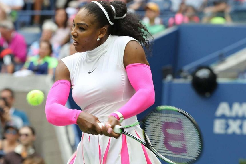 Serena Williams stormed into the quarter-finals of the US Open in record-smashing style on Monday, easing past Kazakhstan's Yaroslava Shvedova 6-2 6-3.