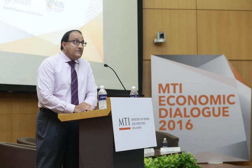 Minister for Trade and Industry (Industry) speaks at the MTI Economic Dialogue.