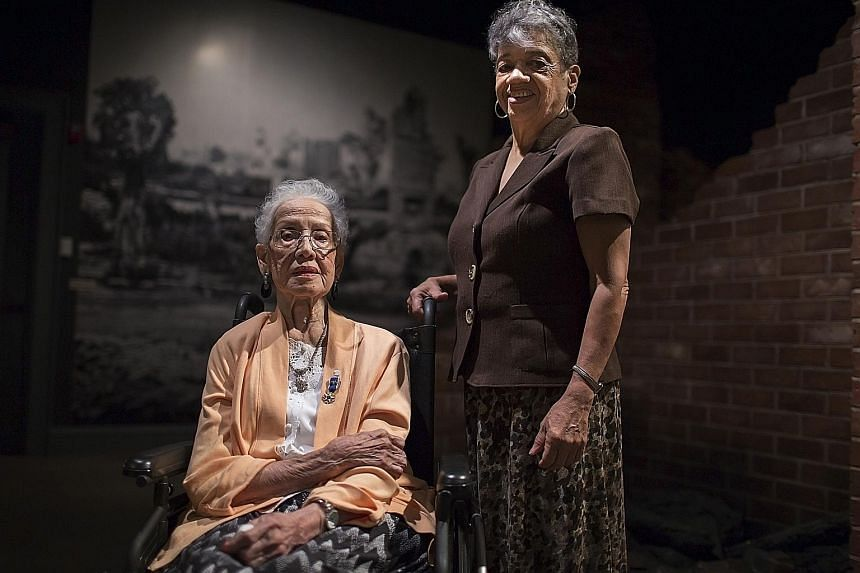 Former Nasa mathematicians Katherine Johnson (left) and Christine Darden are subjects of Hidden Figures, which tells the story of black female mathematicians who worked at the space agency.