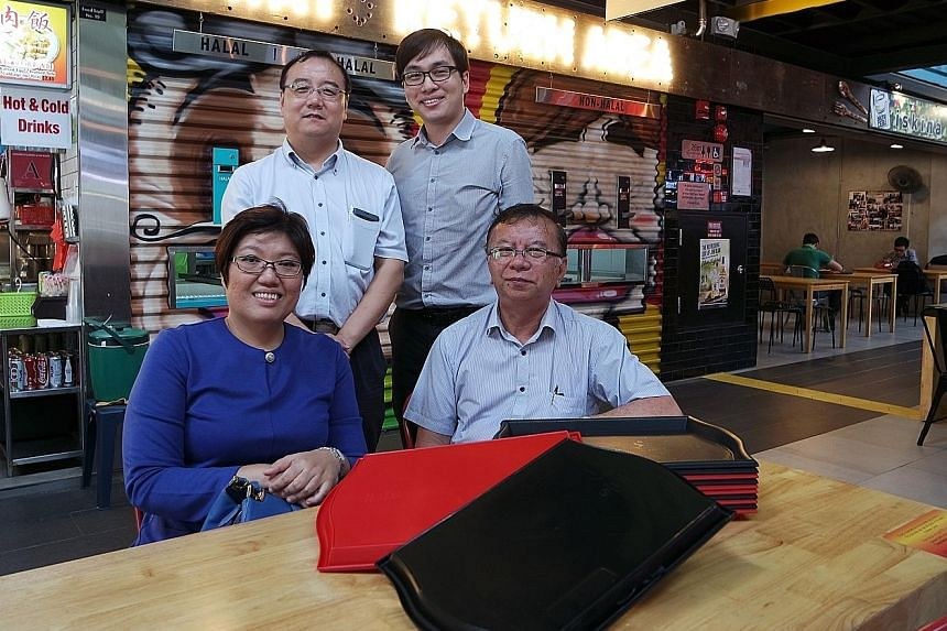 The movers and shakers behind the tagging system are (clockwise from left): Ms Lim Peck Hui, managing director of Tunity Technologies; Mr He Wei, principal research engineer at SIMTech; Mr Allen Chung, manager at Tunity; and Mr Chung Say Kin, directo