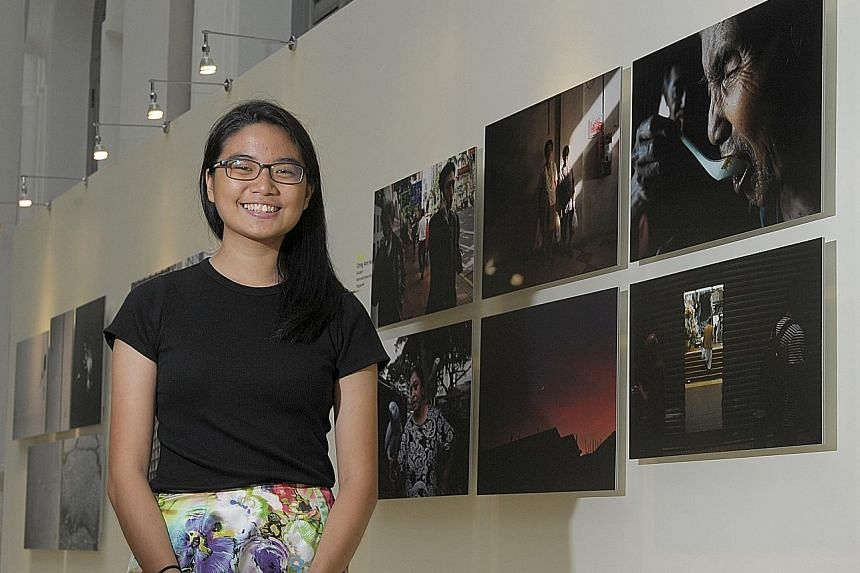 Medical student Ching Ann Hui took as many photos of her grandfather as she could when he was diagnosed with terminal cancer. She included a shot of her father feeding her grandfather (above right) for the City Developments Limited Singapore Young Photogr