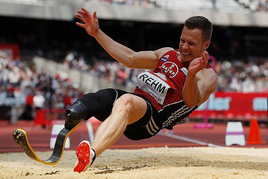Markus Rehm of Germany, who had his leg amputated after a boating accident when he was 13, has a personal best of 8.40m, a distance that would have won the long jump gold at the London and Rio Olympics.