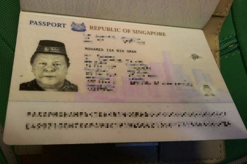 The passport of Singaporean Mohamed Isa bin Omar was found in his hotel room.