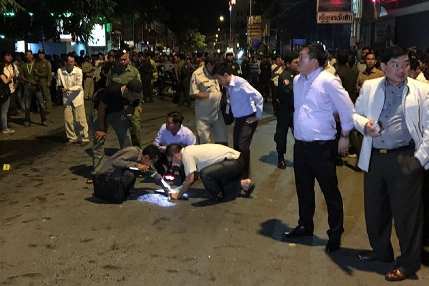 An apparent bomb blast in Phnom Penh, Cambodia, has caused injuries to at least four people, according to Internet reports and social media messages.