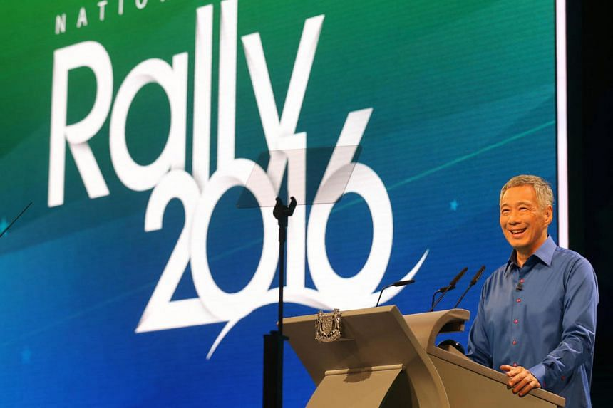 Prime Minister Lee Hsien Loong delivers the National Day Rally 2016 speech at Institute of Technical Education (ITE) College Central on Aug 21, 2016.