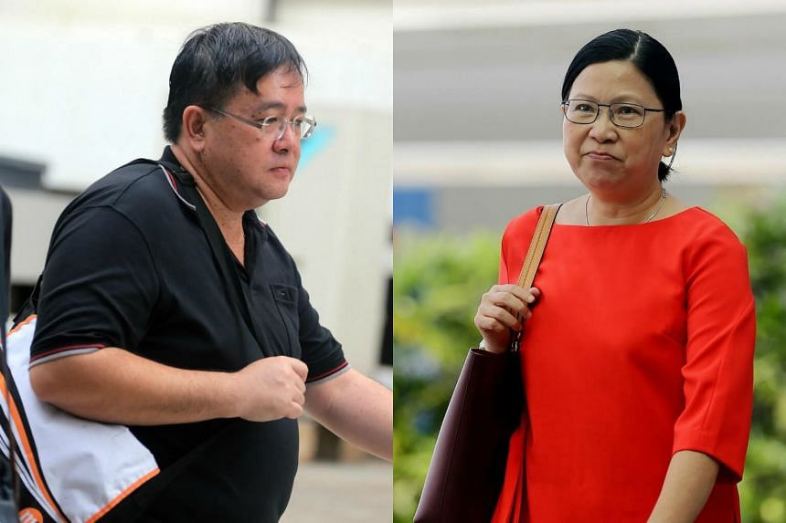 Leong Chee Shian (left), 46, was employed by Schenker (Asia Pacific) when he corruptly obtained bribes amounting to $238,243 from Chuah Hooi Fong.