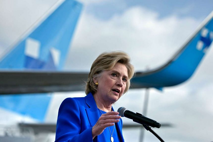 Hillary Clinton speaks to the press at Westchester County Airport on Sept 8, 2016, in White Plains, New York.