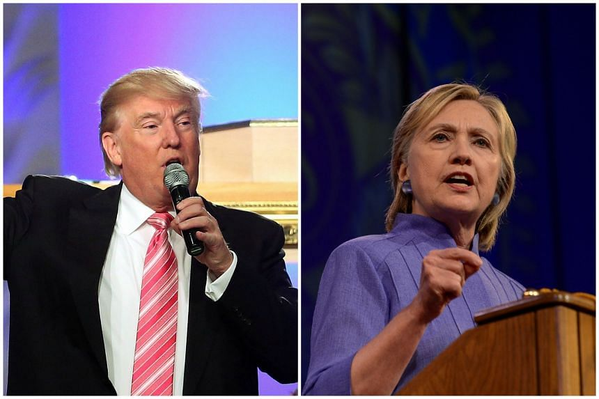 US Presidential candidates Donald Trump and Hillary Clinton both appeared at a forum focused on national security in New York on Wednesday (Sept 7).