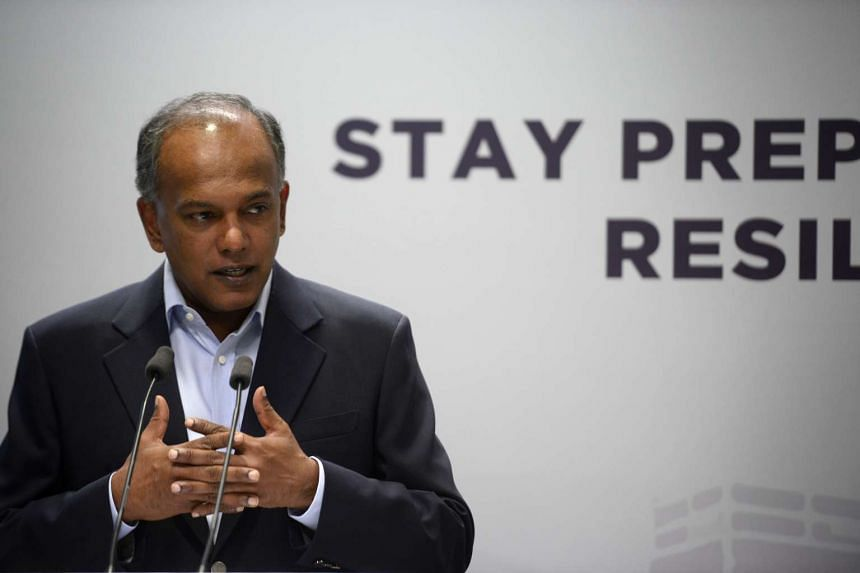 Home Affairs Minister K. Shanmugam speaks during the launch of Temasek Foundation Cares' resilience programme on Sept 7, 2016.