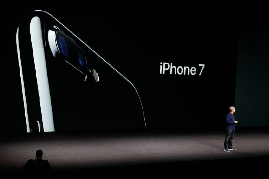 Apple chief Tim Cook introduces the iPhone 7.