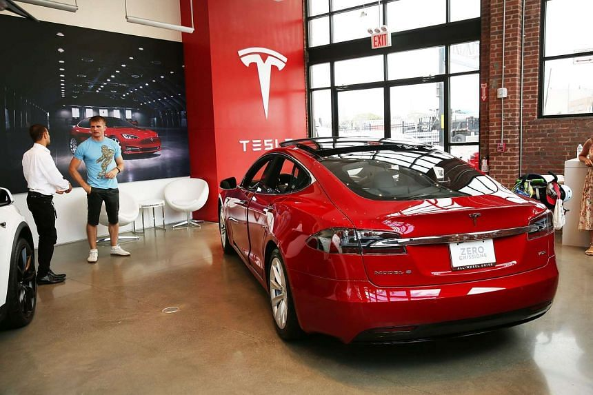 A Tesla model S at a showroom in New York City in July 2016.