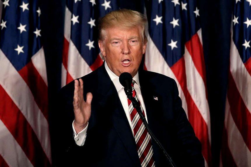 Republican presidential nominee Donald Trump speaks in Philadelphia, Pennsylvania, Sept 7, 2016.