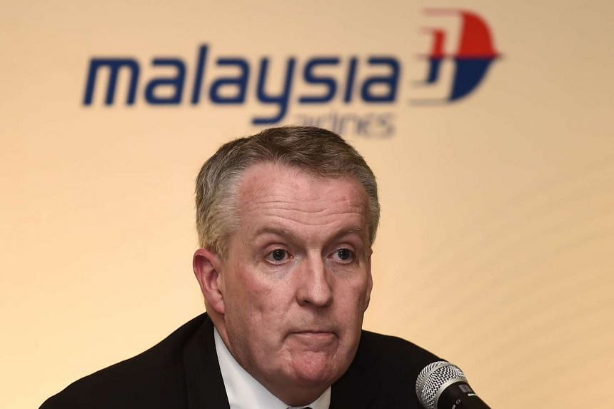 Malaysia Airlines Berhad CEO Peter Bellew during a press conference after a signing ceremony in Putrajaya on July 27, 2016.