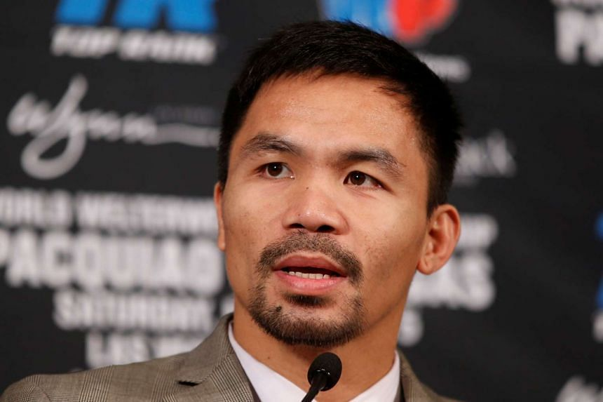 Manny Pacquiao during the press conference at Beverly Hills Hotel, Beverly Hills on Sept 8.