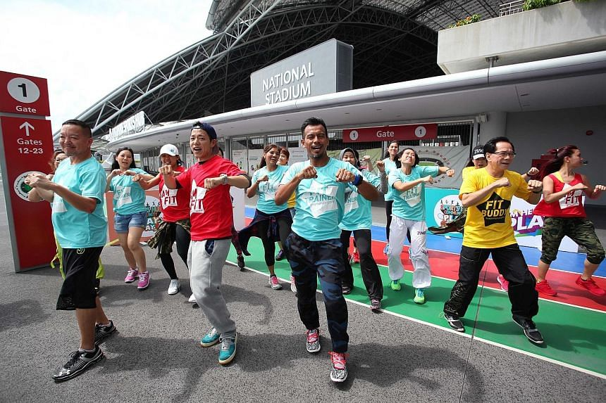 One of the highlights of the Sept 17 Sports Hub Community Play Day will be the Experience Sports programme, where organisers hope to have a record number of people doing zumba together in Singapore. More than 2,500 people have signed up.