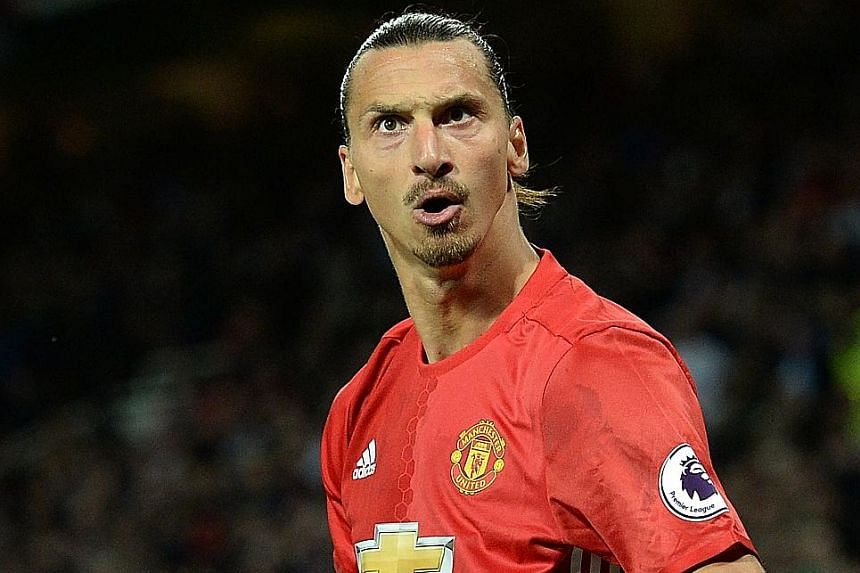 Manchester United striker Zlatan Ibrahimovic celebrates a goal against Southampton. The Swede has scored three times in as many Premier League matches this season.