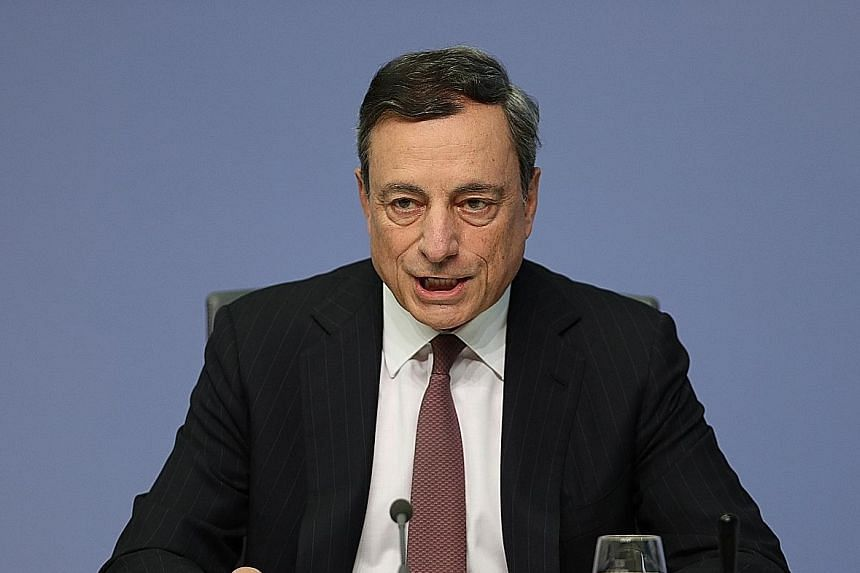 Mr Draghi says the European Central Bank is studying how it might potentially change its asset-buying programme.