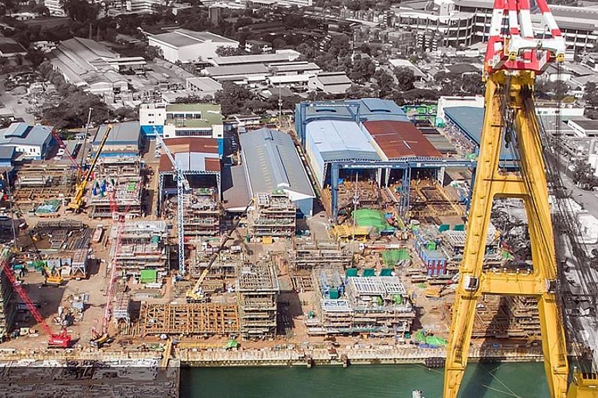 Dyna-Mac's main yard in Gul Road. While the oil services provider has not given a rationale for its proposed early redemption, OCBC Investment Research analyst Low Pei Han says an early redemption can save the firm interest costs on the bonds.