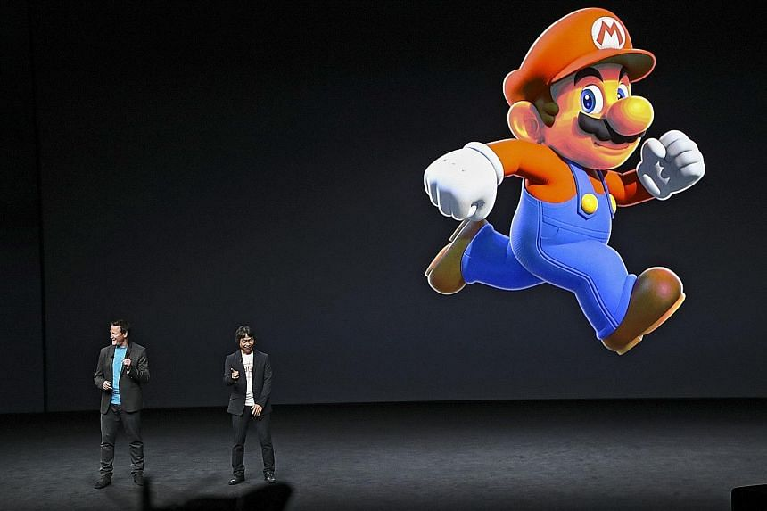 Mario making a star appearance at Apple's iPhone release event in San Francisco on Wednesday. Nintendo's announcement that Super Mario Run will be available on smartphones follows years of anticipation that the company's iconic characters and mobile