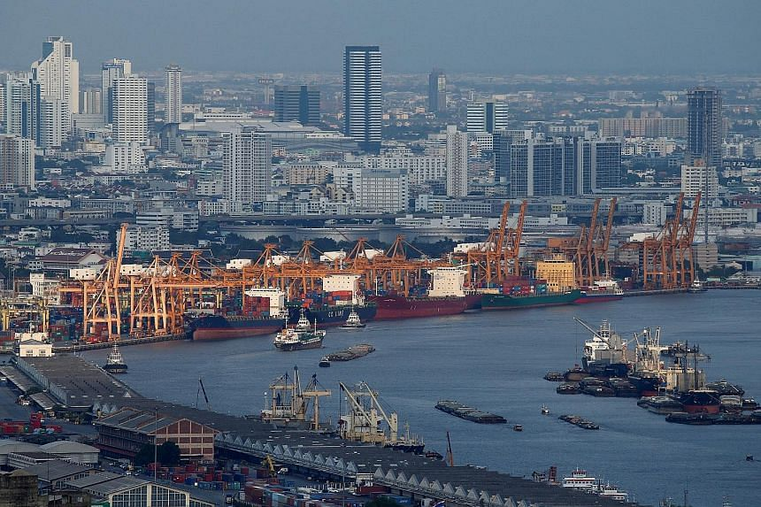 A view of the port of Bangkok, Thailand. The country plans to create an Eastern Economic Corridor, which will be connected by high-speed rail networks and highways, and will involve the modernising of deep-sea ports.