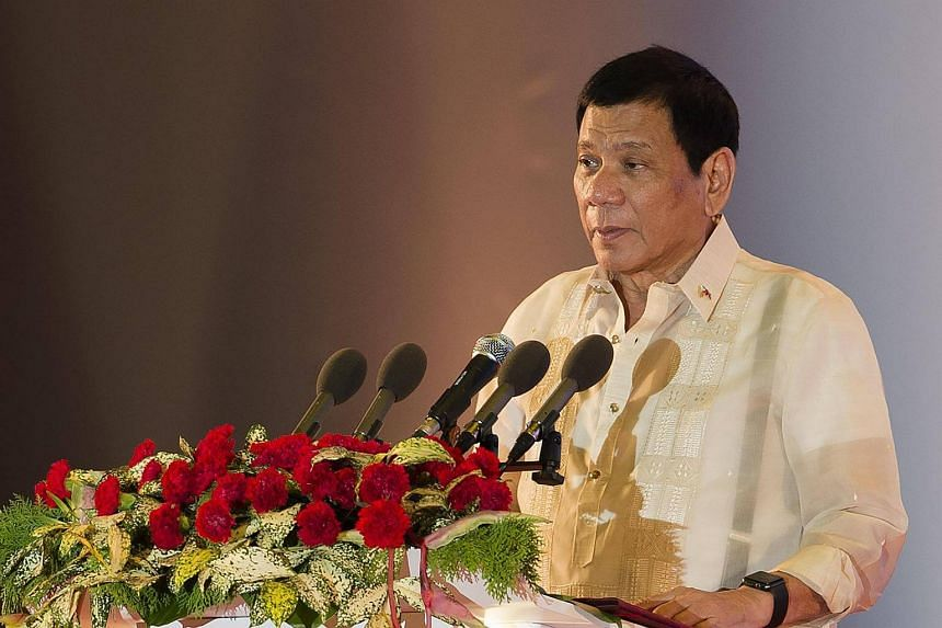 Philippine President Rodrigo Duterte speaks during the closing ceremony of the Asean summit and handover of the Asean chairmanship to the Philippines in Vientiane on Sept  8, 2016.
