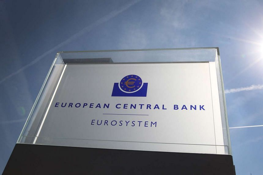 The ECB's board is pictured in Frankfurt/Main, Germany, on Sept 8, 2016.