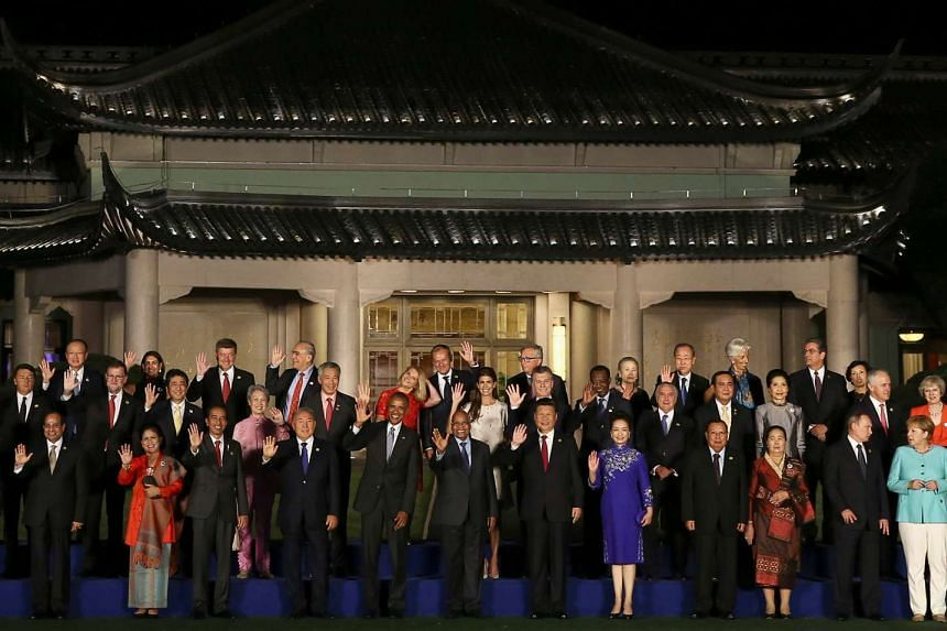 Leaders pose for a family picture during the G20 Summit in Hangzhou, Zhejiang province, China on Sept 4, 2016.