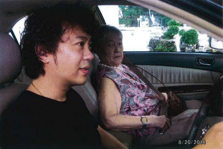 A photo submitted by his lawyer in court shows Yang Yin driving for Madam Chung Khin Chun.
